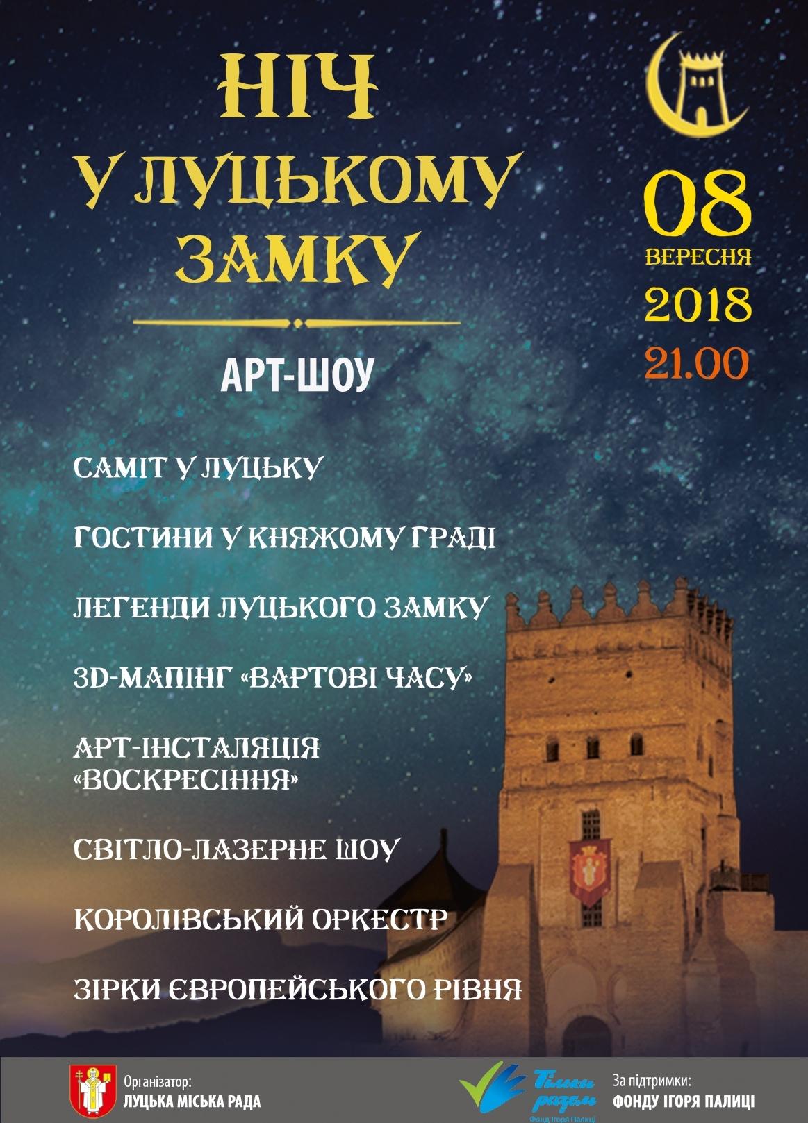 Арт-шоу «Ніч у Луцькому замку - 2018»